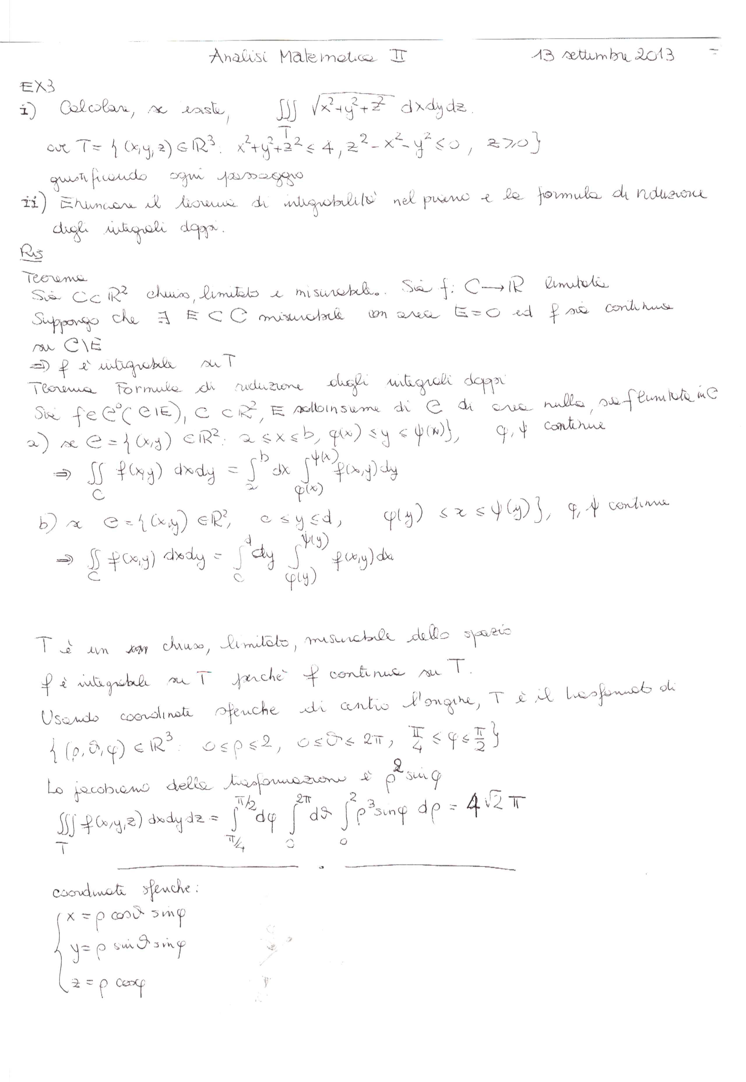 esercizi svolti di matematica integrali doppi